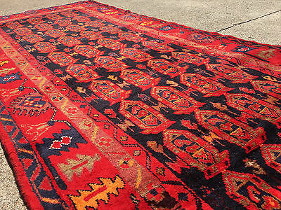 4x10 HAND KNOTTED PERSIAN IRAN RUG RUNNER WOVEN WOOL ANTIQUE 4 x 10 made black 3