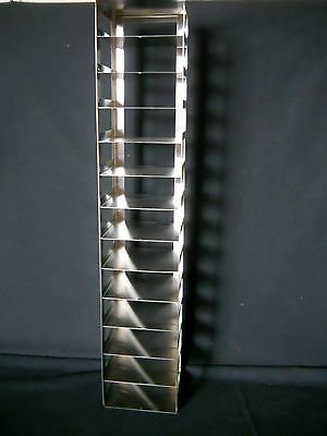 """13 Box S.Steel Vertical/ Chest Freezer Rack for 2"""" High 5.25"""" x 5.25"""" Boxes"""