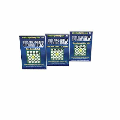 Chess King's Guide to Opening Ideas - ALL 3 VOLUMES Chess Software NO TAX