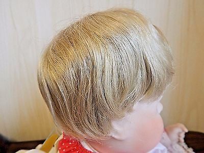 "Short Full Cap Synth Doll Wig Sz 10-11"" Blonde NOS by Pacific Intern'l PIC-A-WIG"