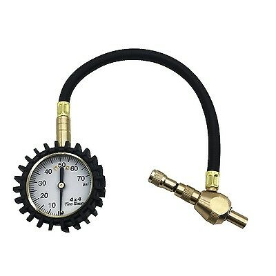 2 in 1 ProfessionalTire Deflator Pressure Gauge 75Psi with Special Chuck for ...