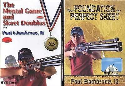 TWO skeet DVDs with Paul Giambrone III - over 3 hours / Int'l WELCOME