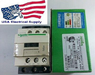 New Schneider LC1D18M7C Contactor With Coil  220VAC 50/60Hz