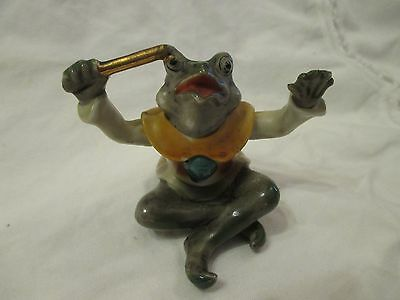Vintage Frog Orchestra Conductor Japan Holding Baton Conducting Figure Figurine