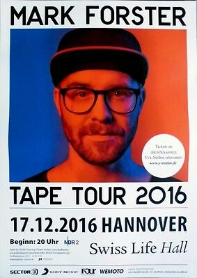 FORSTER, MARK - 2016 - Konzertplakat - Tape - Tourposter - Hannover