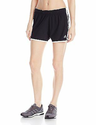 ADIDAS WOMEN'S CLIMALITE Ultimate Woven 3 Stripe Shorts Black Running Short S 2X