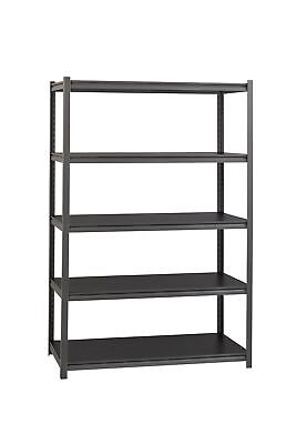 Space Solutions 5 Shelf Rivet Shelving Unit, 18D x 48W x 72H I... 2 Day Shipping