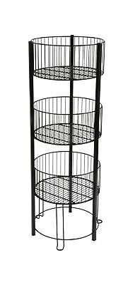 Displays2go 3 Tiered Wire Dump Bin for Floor 16-Inch Round Sto... 2 Day Shipping