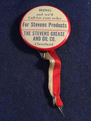 Antique Vintage Stevens Products Grease & Oil Co Cleveland Ohio Gas & Oil