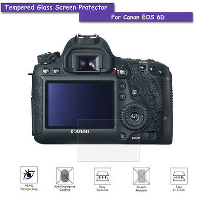 """9H HD LCD Tempered Glass Screen Protective Film Shield Cover For Canon EOS 6D 3"""""""