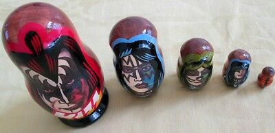 FREE KISS Nesting Doll+Original Alice Cooper Photo Russian Tour/FREE SHIP IN USA