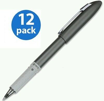 12 Uni-ball Roller Grip Fine Point Roller .5mm Black Ink Pens 60704 $24