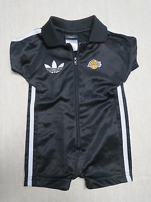 Excellent Infant Baby ADIDAS LA Lakers One Piece Outfit  Size 6/9 months