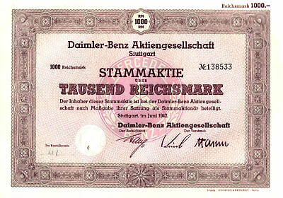 SUPERB MULTI-COLOR 1942 MERCEDES STOCK from NAZI GERMANY Rare Early Type w STAR