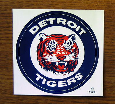 Vintage 1971 Detroit Tigers MLB Meyercord Decal Sticker