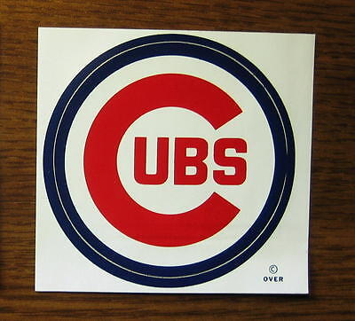 Vintage 1971 Chicago Cubs MLB Meyercord Decal Sticker