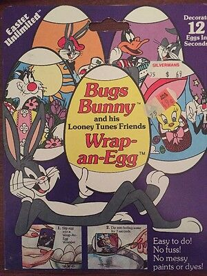 Vintage Bugs Bunny & Looney Tunes 1984 Easter Instant Egg Wrappers  - RARE!!