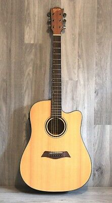 Solid Top Spruce Acoustic Electric Guitar iMusic234 installed EQ