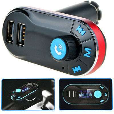 Bluetooth Car Kit MP3 Player FM Transmitter Wireless Radio Adapter 2 USB Charger
