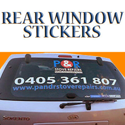Custom Vinyl Rear Window Advertising Stickers - With Design* - FREE INSTALL
