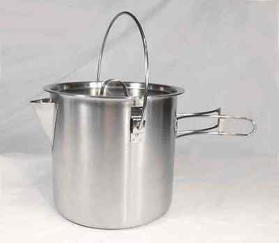 52 / 68 Ounce Stainless Steel Camping Pot Cooking Kettle