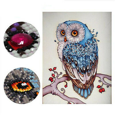 Embroidery 5D Owl Animal diamond cross stitch crystal sets unfinished painting