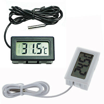 Fish Aquarium Water Fridge 2m Probe LCD Mini Digital Thermometer Tester Suitable