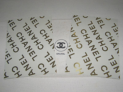 "Chanel Near-Vintage- Set Of 2-Diagonal ""Chanel""Corp.advertising Folders-Metallic"