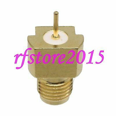 Connector SMA female SMT PCB end launch face axial edge mount for antenna solder