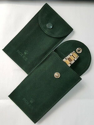 Genuine Rolex Dark Green Velvet Travel Pouch