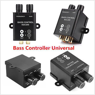 Universal Car Audio Amplifier Bass Boost RCA Level Remote Volume Control Knob