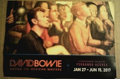 Museum card: DAVID BOWIE: Among the Mexican Masters - Exhibit by Fernando Aceves
