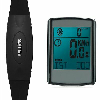 Pellor 3 In 1 Multi-function Heart Rate Monitor Speed Wireless Bicycle Computer