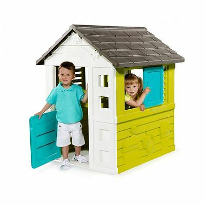 Smoby Childrens Kids Pretty Playhouse Outdoor Garden Plastic Wendy House Toy New