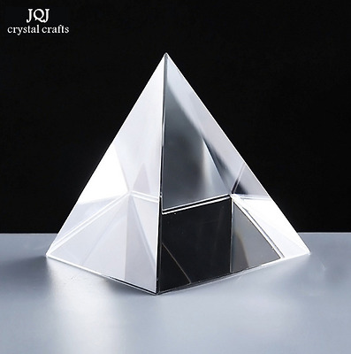6CM K9 AAA Quartz Crystal Glass Pyramid Paperweight Natural Stones And Minerals