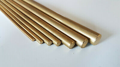 Cheap Brass Round Solid Bar / Rod Modelmaking Dia 3.2 to 12mm Various Lengths