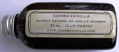 50 Ml D'extrait Naturel De Vanille Bourbon De Madagascar