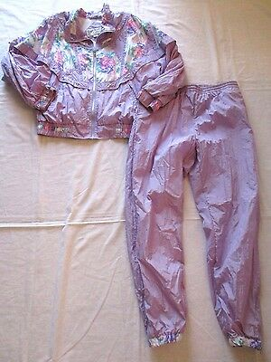 Vintage 80s 90s GALLERY SPORT JOGGING WINDBREAKER SUIT PASTEL SIZE MEDIUM