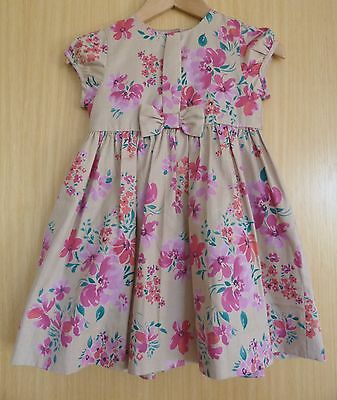M&S Baby Girls Dress Age 12 18 months Summer Floral Party BNWOT New Pink