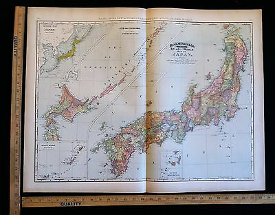 Antique 1892 Map Of Japan Excellent Large Size For Wall Decor 28 x 22