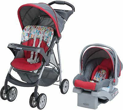Graco LiteRider Travel System, with SnugRide Click Connect 22 Infant Car Seat