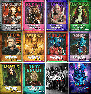 12pc Guardians of the Galaxy Vol. 2 2017 Postcard Promo Card Photo Poster Card A