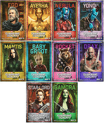 10pc Guardians of the Galaxy Vol. 2 2017 Promo Card PhotoPoster Card Stickers A1