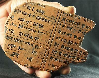 ASSYRIAN CANNABIS REMEDY Cuneiform Tablet 700 BC ancient replica