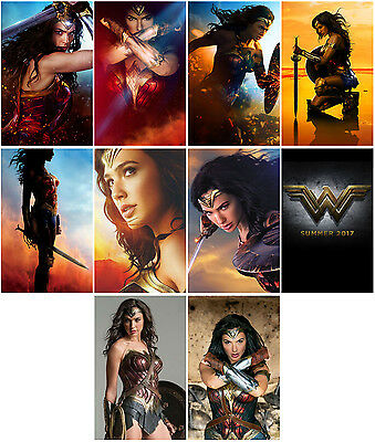 10pc  Wonder Woman (2017) Charactor Promo Card Photo Poster Card Stickers B2