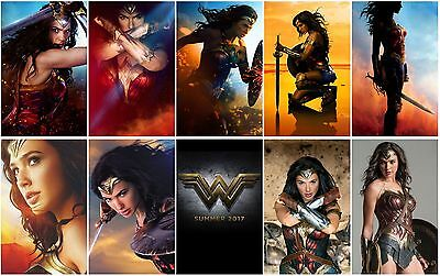 10 Wonder Woman Movie 2017 Promo Card PVC CHARACTOR Transparent Photo CARD C03