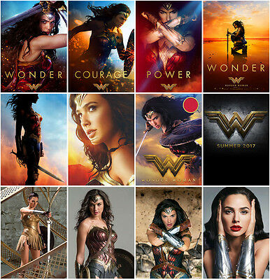 12pc Wonder Woman (2017) Postcard Charactor Promo Card Photo Poster Card E05
