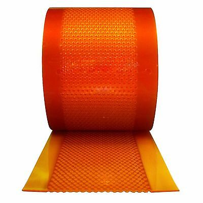"Aleco Industrial 12"" x 75' Amber Clear Flexible Walk-In Bulk Strip Door Roll Kit"