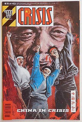CRISIS COMIC #42 - 1990 - 2000 AD Spin off