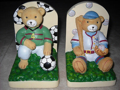 Kidsline Club USA  Youth Bookends  Child Baseball Soccer Sports Bears Bookends